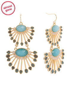Blue Multi Dramatic Earrings