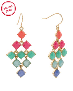 Multi Color Kite Chandelier Earrings