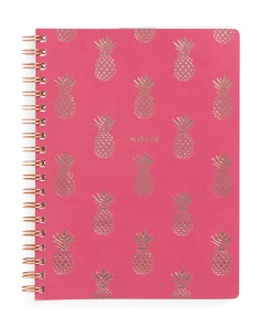 Pinapple Spiral Notebook