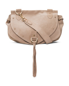 Collins Medium Suede Crossbody