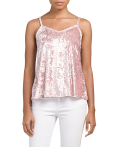 Juniors Made In USA Burnout Velvet Cami