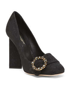 Made In Italy Pumps With Jeweled Applique Buckle