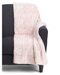 Brushed Micromink Faux Fur Throw