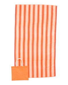 Made In India 2pc Beach Towel And Tote Set
