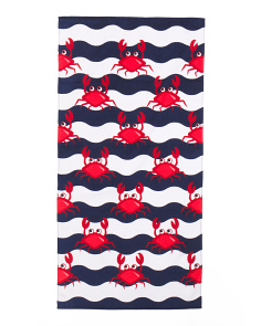 Made In Brazil Kids Crabs Beach Towel