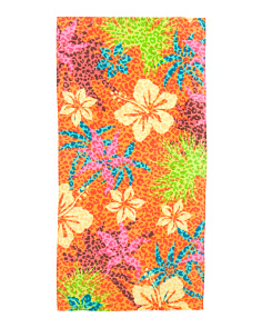 Made In Brazil Kids Hibiscus Beach Towel