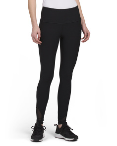 High Waist Mesh Inset Leggings