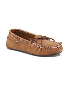Sabrina Suede Moccasin Slippers