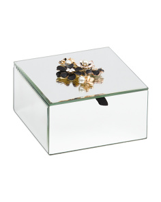 Mirrored Floral Jewelry Box