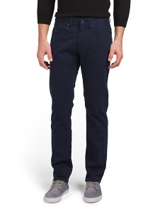 Slim Straight Stretch Twill Pants