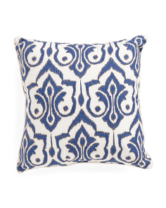 20x20 Trefoil Ikat Pattern Pillow