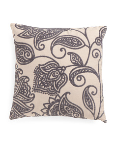22x22 Jacobean Scroll Pillow