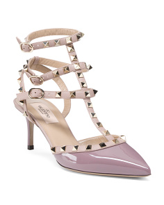 Made In Italy Rockstud Patent Leather Pumps