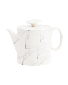 Marble Printed Teapot