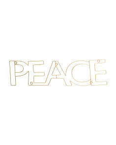 Peace Metal Rod Wall Decor