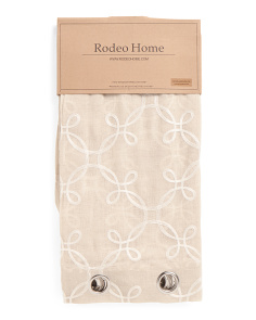 54x96 Marlow Embroidered Sheer Set Of 2 Curtains