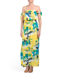 Juniors Off The Shoulder Maxi Dress