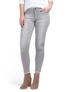 Skinny Semi Destructed Jeans
