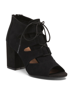 Appetite Lace Up Heel Booties
