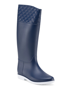 Quilted Top High Rain Boots
