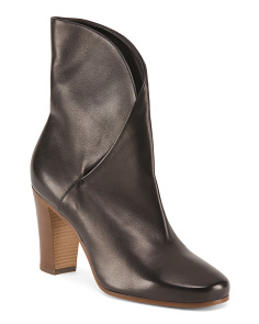 Made In Italy Leather Wrap Booties