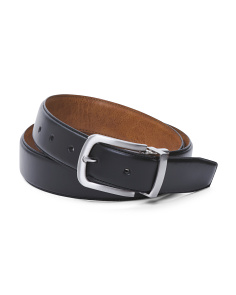 Leather Reversible Feather Edge Belt