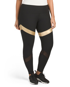 Plus Active Metallic Accent Leggings