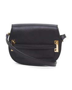 Made In Italy Rockstud Leather Saddle Bag
