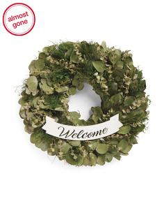 16in Welcome Leaves Wreath