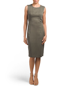 Made In USA Solid Seamed Sheath Dress