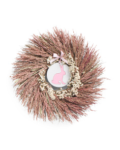 22in Pink Bunny Wreath