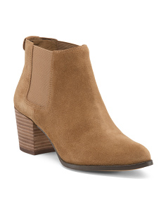 Double Gore Low Suede Booties