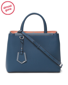 Made In Italy Petite 2 Jours Leather Shopper