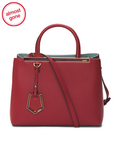 Made In Italy Petite 2jours Leather Shopper