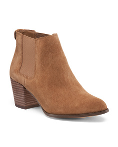 Low Suede Booties