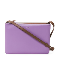Made In Italy Trio Leather Crossbody