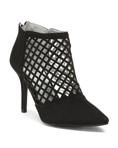 Caged Back Zip Mid Heels