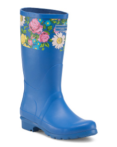 Floral Trim High Shaft Boots