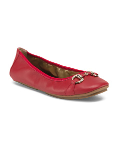 Seta Leather Ballet Flats