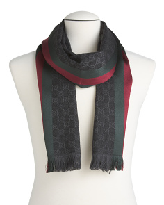 Made In Italy Wool Jacquard Scarf