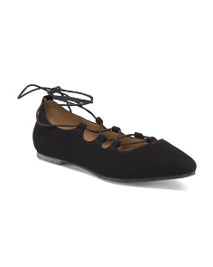 Suede Ghillie Ballet Flats