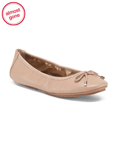 Halle Leather Bow Flats