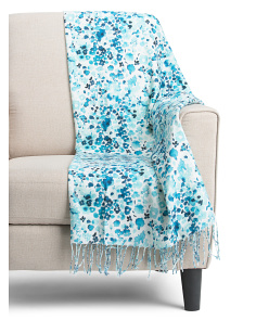 Watercolor Bloom Throw
