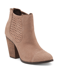 Leather Perforated Booties