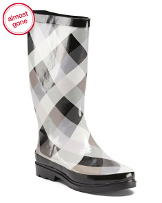 Buffalo Checkered High Shaft Rain Boots