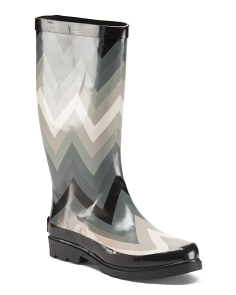 Chevron High Shaft Rain Boots