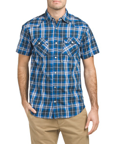 Garment Washed Plaid Shirt