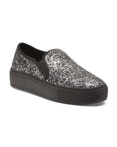 Glitter Slip On Sneakers