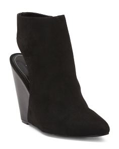 India Ankle Wrap Wedge Booties