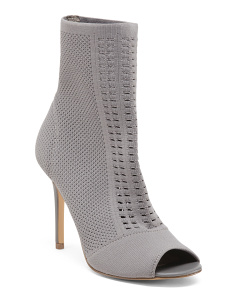 Stretch Knit Peep Toe Booties